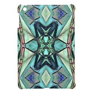 Modern Teal Lilac Peach Artistic Pattern Cover For The iPad Mini