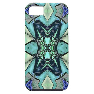 Modern Teal Lilac Peach Artistic Pattern iPhone 5 Covers