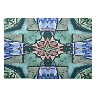 Modern Teal Lilac Peach Artistic Pattern Placemat