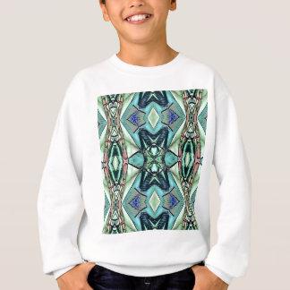 Modern Teal Lilac Peach Artistic Pattern Sweatshirt