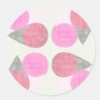 Modern Teardrop Pattern Classic Round Sticker