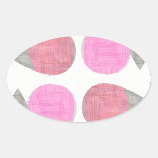 Modern Teardrop Pattern Oval Sticker