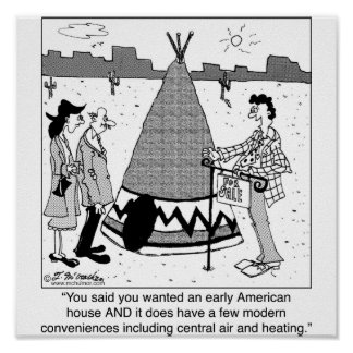 Modern Tee Pee has Central Air & Heating Poster