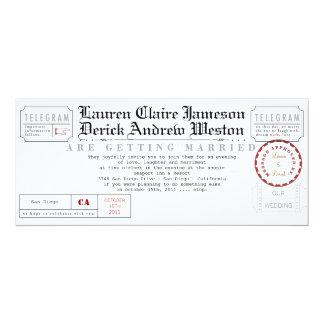 Modern Telegram Tea Length Invitation