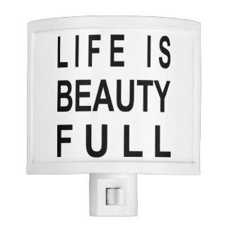 MODERN TEXT Life is Beauty Full Nite Lite