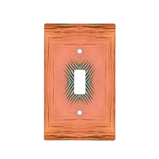 Modern Textured Wavy Peach Pattern Light Switch Cover