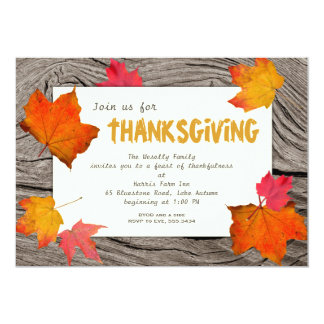 Modern Thanksgiving Dinner Invitation Fall Theme