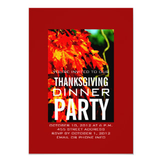 MODERN THANKSGIVING DINNER INVITATION | RED