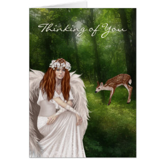 Modern Thinking of You Card Greeting with Beautifu