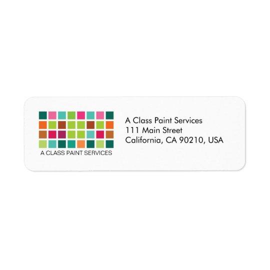 Modern Tiles Series No.24 Return Label