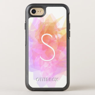 Modern Transparent Layers/Magenta Pink Yellow OtterBox Symmetry iPhone 8/7 Case