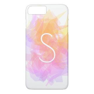 Modern Transparent Layers/Magenta Pink Yellows iPhone 8 Plus/7 Plus Case