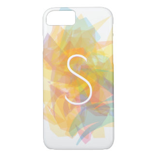 Modern Transparent Layers/Yellow & Soft Colors iPhone 8/7 Case
