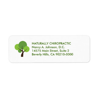 Modern Tree Logo Chiropractic Avery Labels