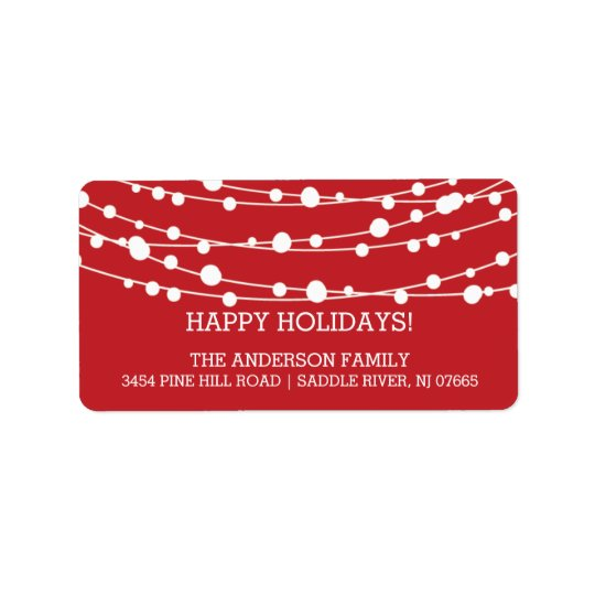 Modern Trees Holidays Christmas Return Address Label
