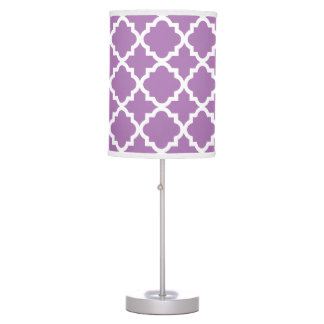 Modern Trellis in Lilac | Table Lamp