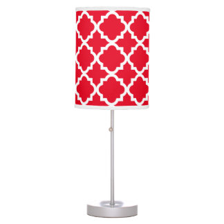 Modern Trellis in Red | Table Lamp