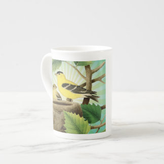 modern trend birds and nest bone china mug