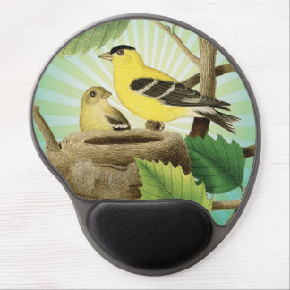 modern trend birds and nest gel mouse pads