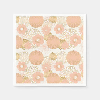modern trends blush flower blooms disposable napkins