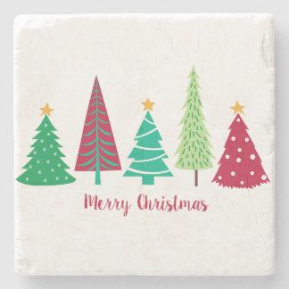 Modern trends Christmas Trees Stone Coaster
