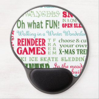 Modern trends Christmas typography Gel Mouse Pad