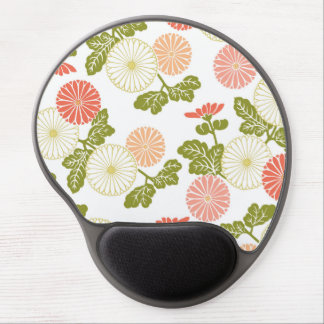 modern trends coral floral gel mouse pad