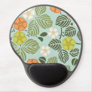 modern trends seafoam floral gel mouse mat