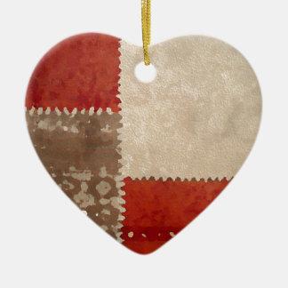 Modern Trendy Abstract Ceramic Heart Ornament