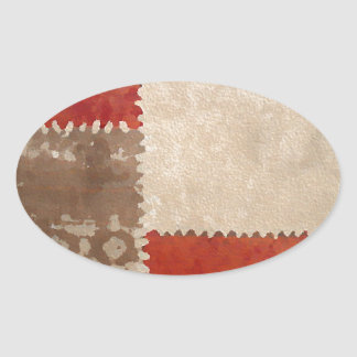 Modern Trendy Abstract Oval Sticker