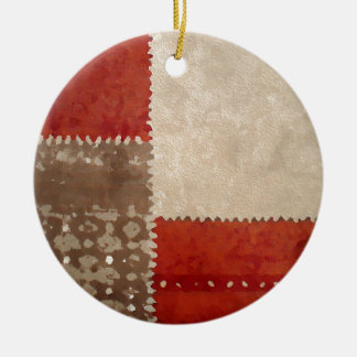 Modern Trendy Abstract Round Ceramic Ornament