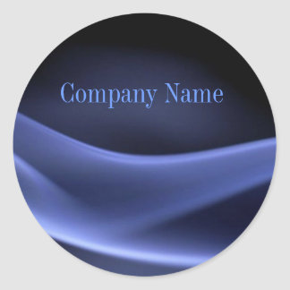 modern trendy blue black abstract business classic round sticker
