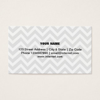 Modern trendy chevron pattern business card design