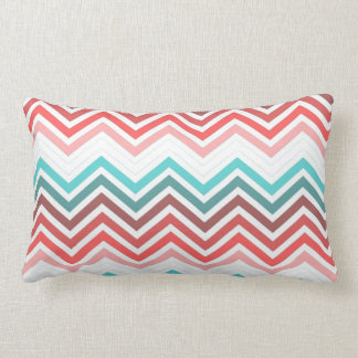 Modern, trendy, colorful chevron zigzag pillows