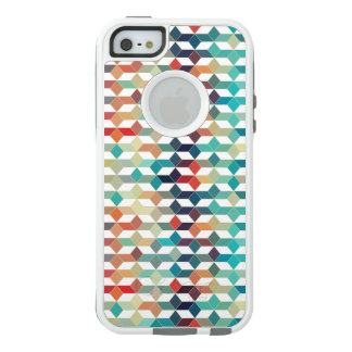 Modern Trendy Colorful Cubes Geometric Pattern OtterBox iPhone 5/5s/SE Case
