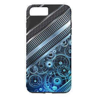 Modern Trendy Cool Retro Industrial Gears Pattern iPhone 8 Plus/7 Plus Case