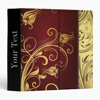 Modern trendy decorative abstract art vinyl binder