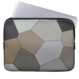 Modern Trendy Earth Toned Pattern Laptop Sleeve