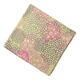 Modern Trendy Floral Pattern Head Kerchief