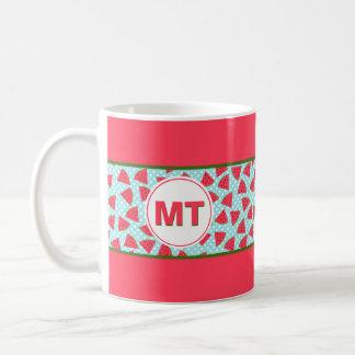 Modern Trendy Graphic Watermelon Fruit Pattern Coffee Mug