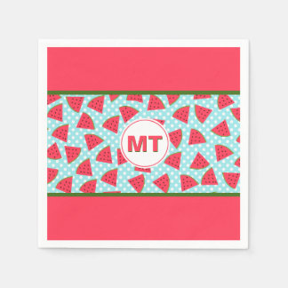 Modern Trendy Graphic Watermelon Fruit Pattern Disposable Napkin