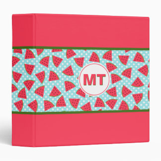 Modern Trendy Graphic Watermelon Fruit Pattern Vinyl Binder