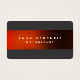 Modern Trendy Grey Red Unique Trendy Creative Business Card