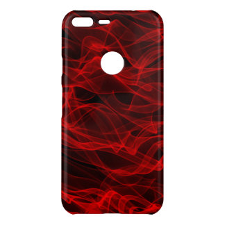 Modern Trendy Neon Red Curvy Line Abstract Pattern Uncommon Google Pixel XL Case
