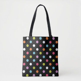 Modern Trendy Polka Dots Tote Bag