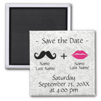 Modern Trendy Save the Date Magnet