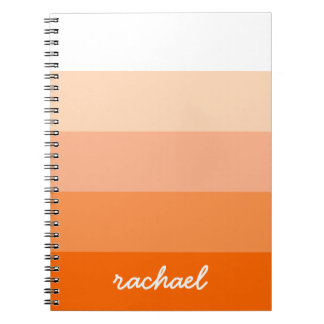 Modern Trendy Stripes Personalized Note Books