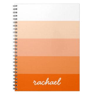 Modern Trendy Stripes Personalized Notebooks