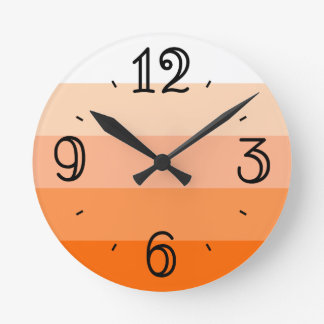 Modern Trendy Stripes Round Clock