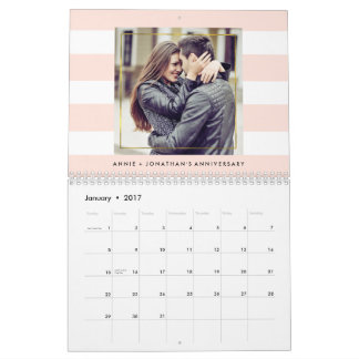 Modern Trendy Stripes with Your Photos Calendars